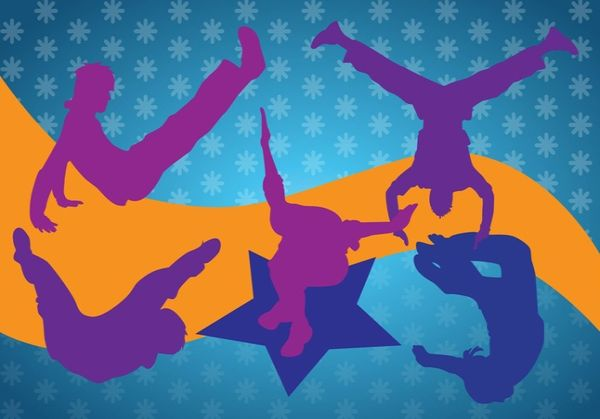 Free Breakdancing Silhouettes Graphics