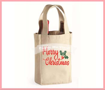 Merry Christmas Wine Bag