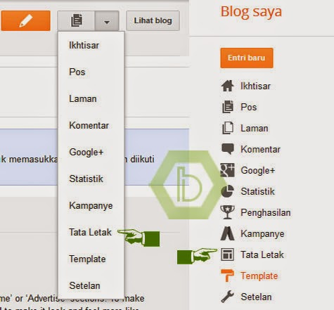 Membuat Menu Di Blogger