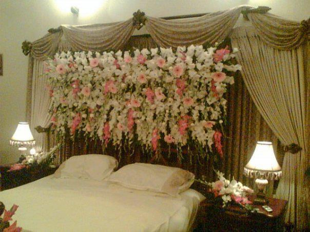 Wedding bed decoration hairstyles and fashion for Marriage bed decoration photos