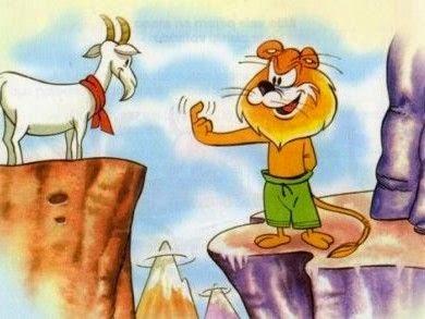Fabula el león y la cabra - Fabulas infantiles cortas