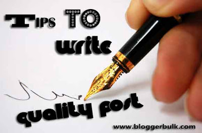 Writing a quality blog post guide