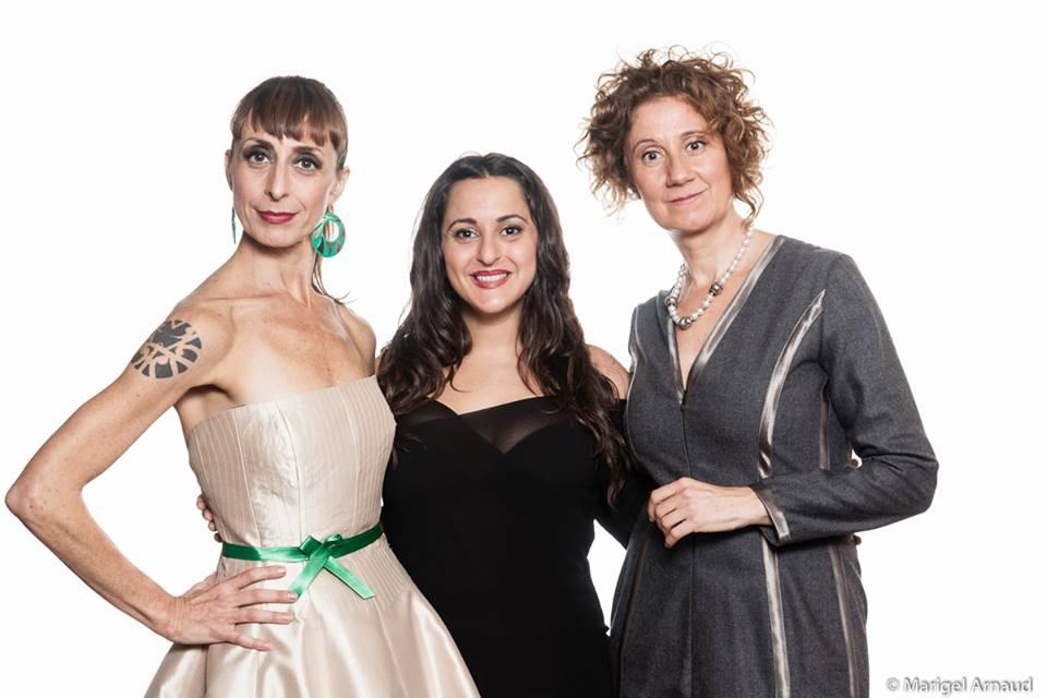 De izquierda a derecha; Carmen Mayordomo, Pepa Rus y Esperanza Elipe - Fotografía de Marigel Arnaud