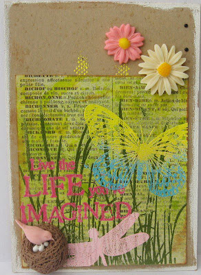 Visible Image spring challenge Butterfly Tall Grass stamp