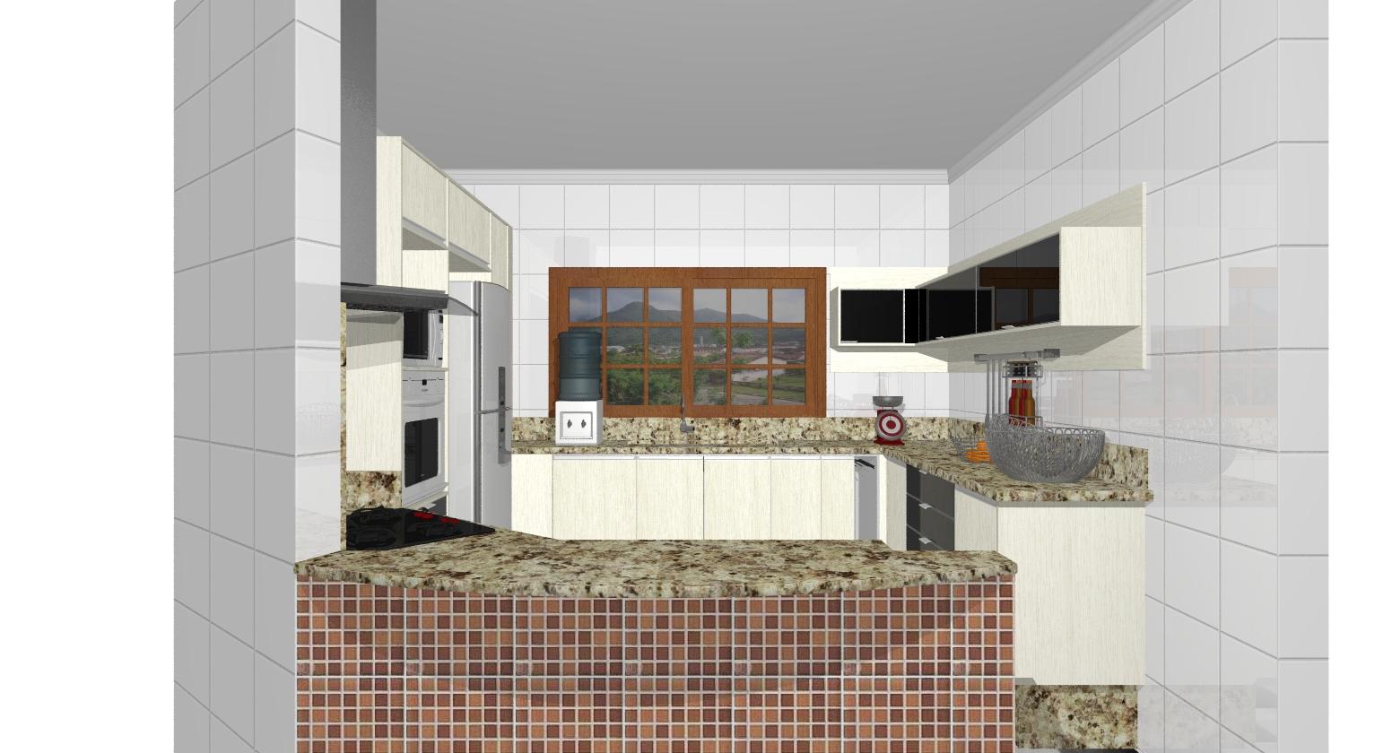 Nelson Simões: Cozinha estilo americana Porangaba/SP. #704834 1552 840