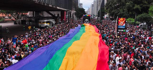 gay pride event Sao Paulo, Brazil