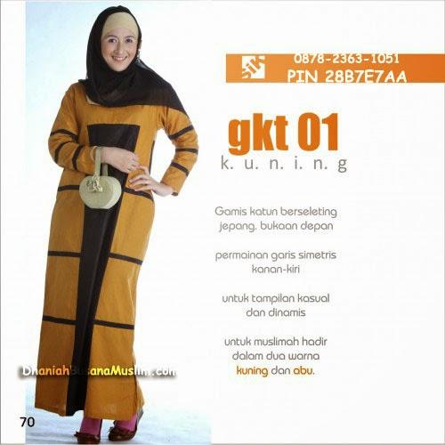 Gamis Sik Clothing GKT 01 Kuning
