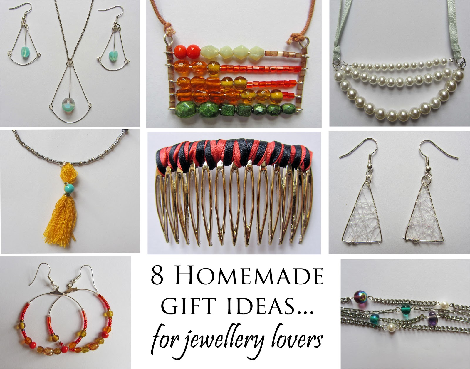 The Bumbling Bee: Homemade jewellery gift ideas...