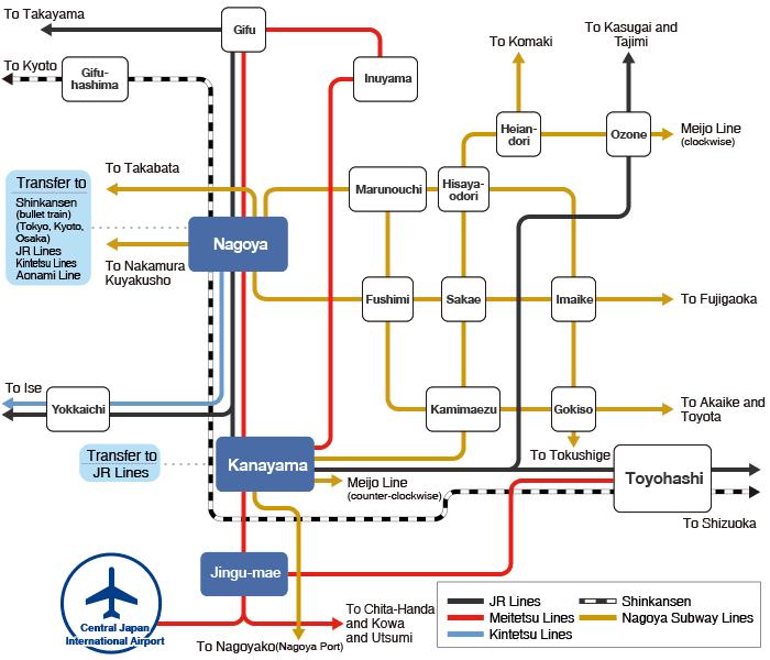 Nagoya Train Map