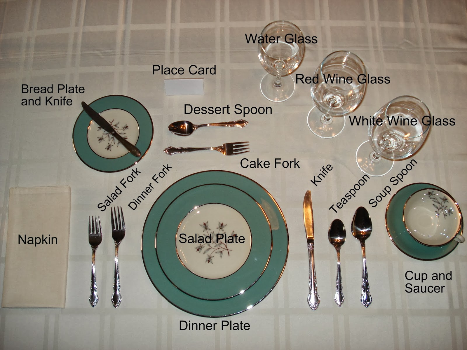 Slave journeys essential slave skills formal dining for Table place setting