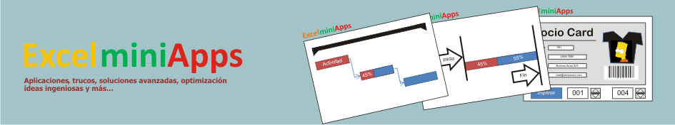 mini aplicaciones en Excel