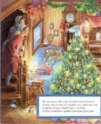 sample page #2 from THE NIGHT BEFORE CHRISTMAS by Cheryl Harness