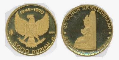 Uang Koin Pecahan 5.000 Rupiah 1970