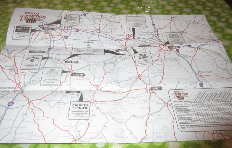 Don 39 t read this it 39 s boring road trip day 3 ky to tn for Ky bourbon trail craft tour map