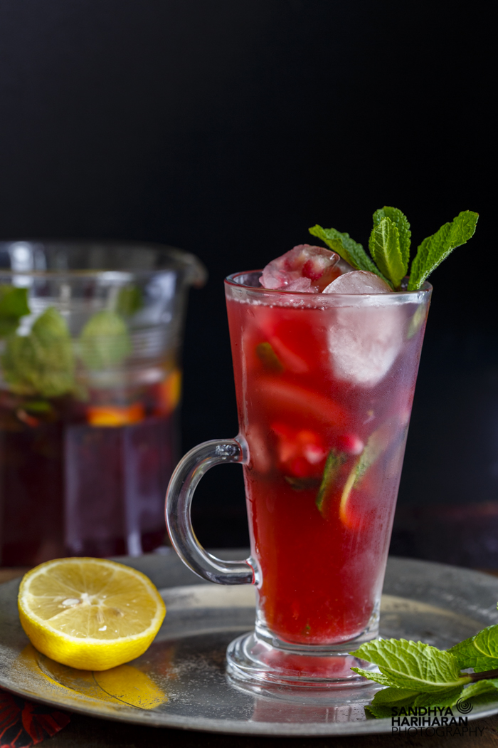 Pomegranate Mojito #mocktail #appletiser - Sandhya's Kitchen