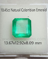 10,45ct Colombian Emerald