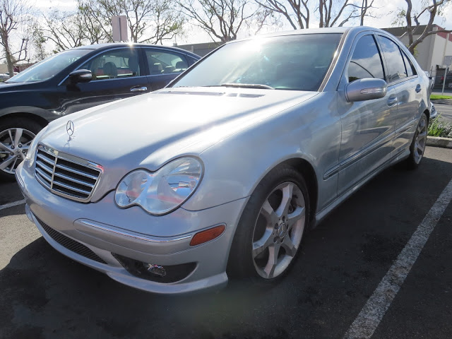 A new car look with a paint color change on this Mercedes at Almost Everything Auto Body