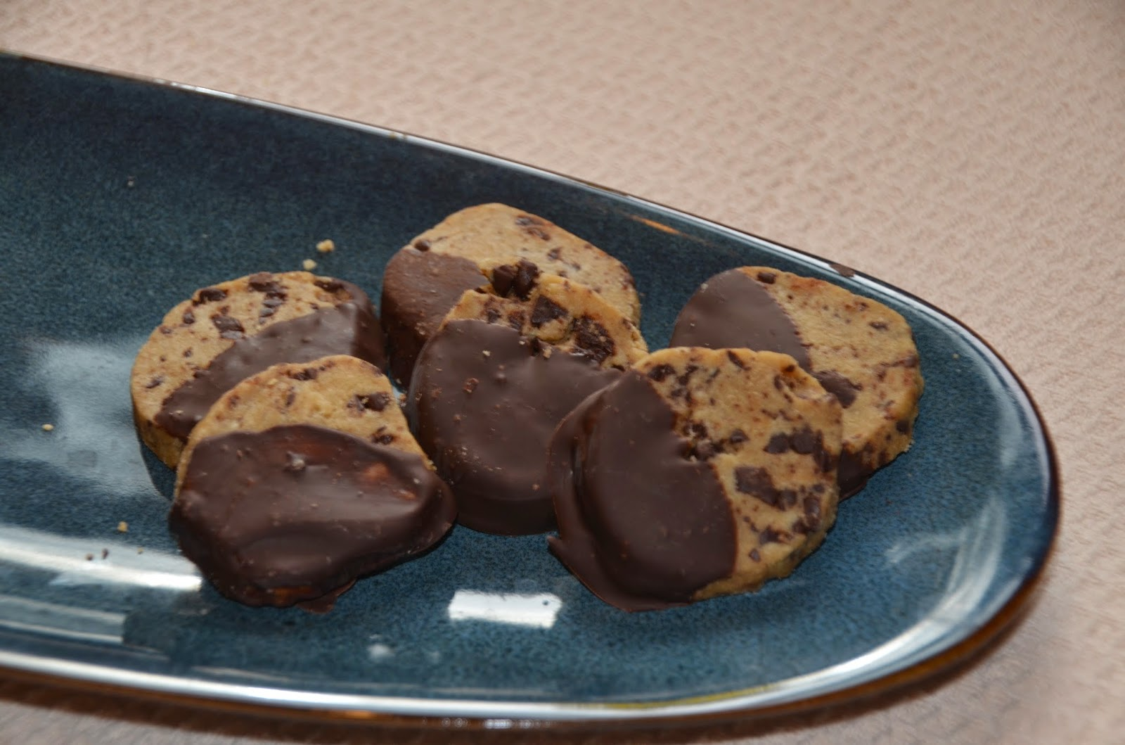 What's for Dinner: Chocolate Dipped Espresso Shortbread