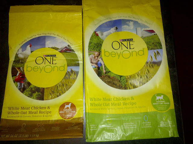 2 bags of pet food