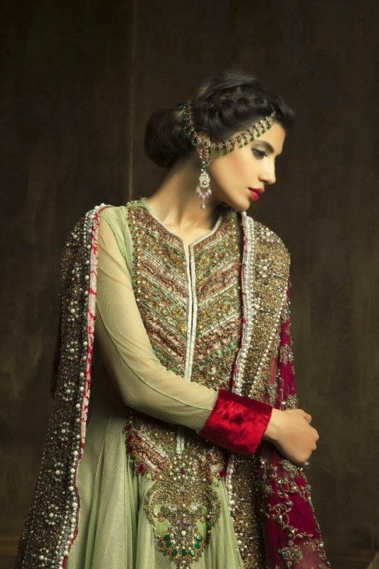 Latest Fashion Trends Pakistani Bridal Couture Wedding Wear Collection 2014 2015