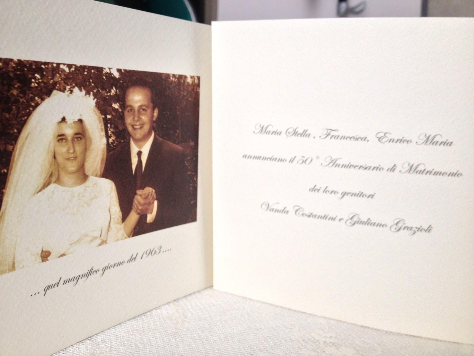 Favoloso VANDA & GIULIANO 50 Anni insieme: Siete invitati al nostro 50  FA83