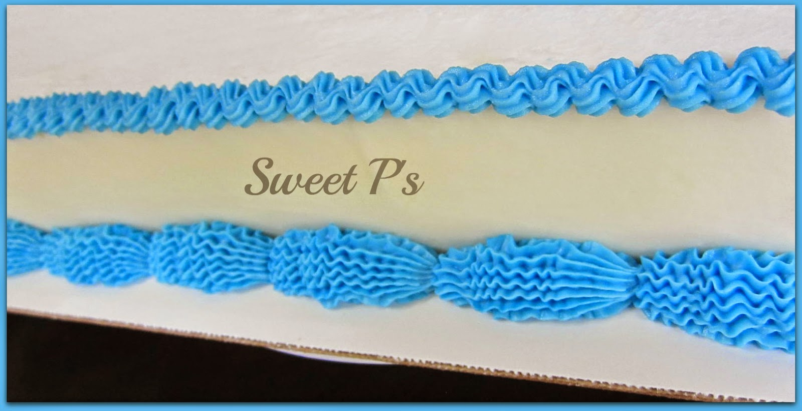 simple buttercream borders