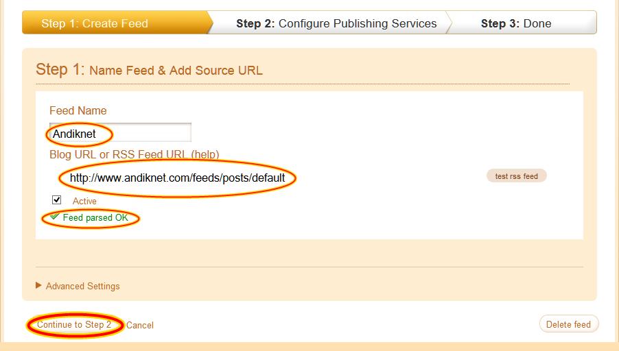 Cara menampilkan posting blog ke twitter secara otomatis