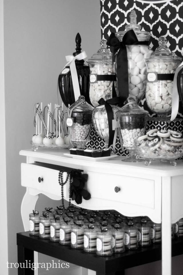 Black And White Birthday Decorations