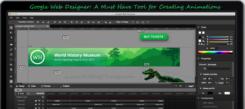Google Web Designer: A Must Have Tool for Creating Animations