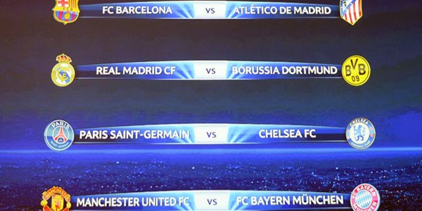 Hasil Drawing Perempatfinal Liga Champion 2014