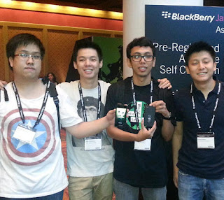 Indonesian Programmer, Inspira won BlackBerry Asian Application Developers Tournament, Jamhack 2012