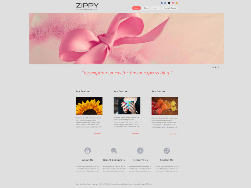 Zippy - free flower WordPress theme