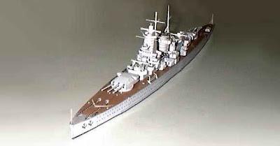 Battleships Admiral Graf Spee Papercraft Replika, German