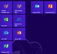 Office 2013 on Metro start page
