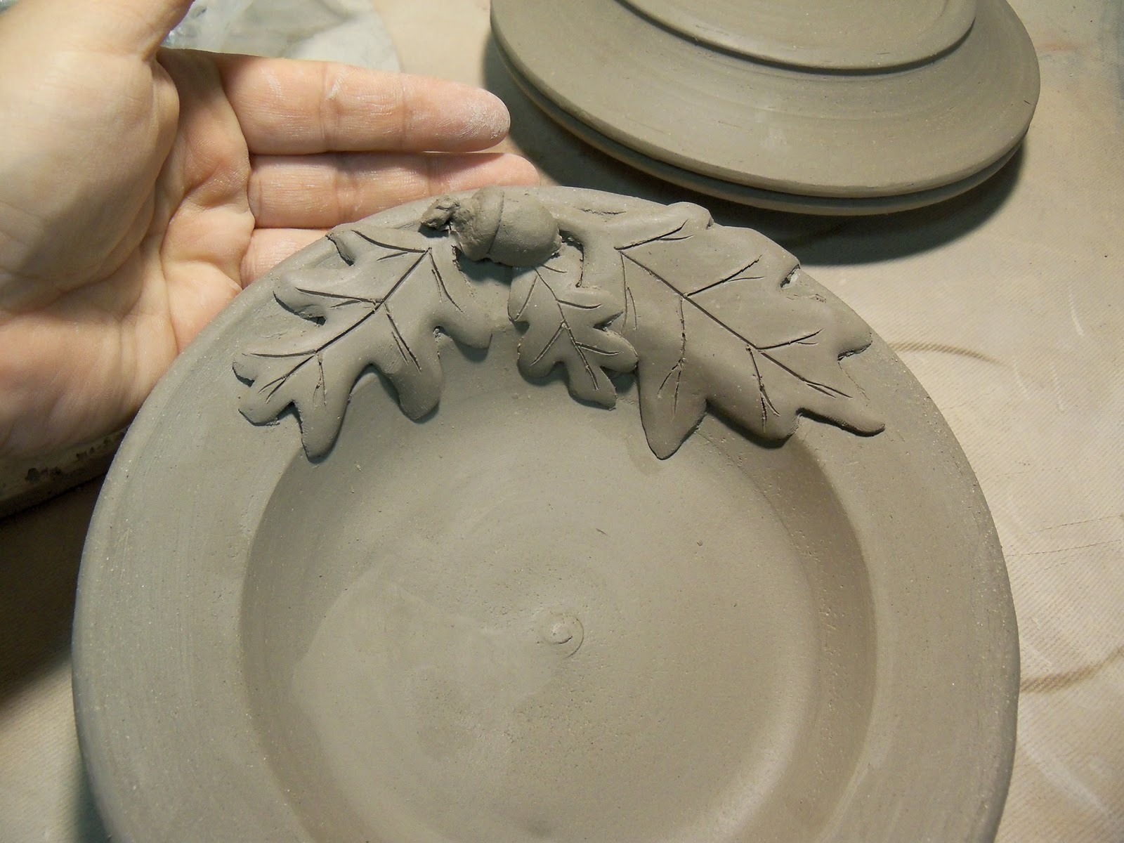 The Making of our Oak and Acorn Plates & Hughes Pottery: The Making of our Oak and Acorn Plates