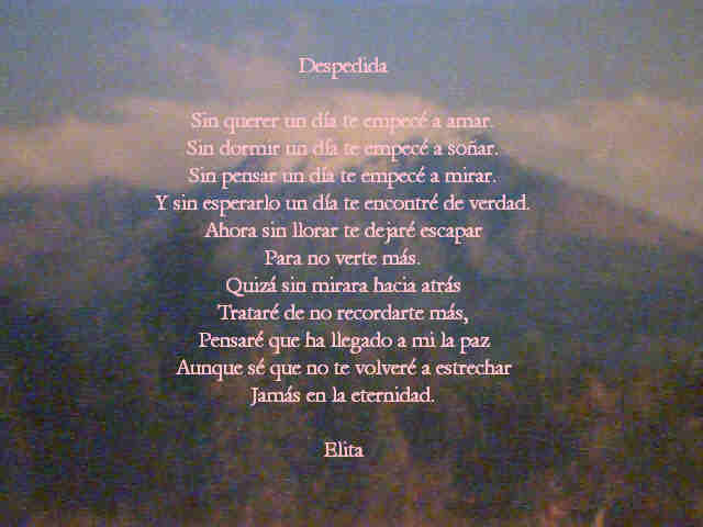 POEMAS: DESPEDIDA