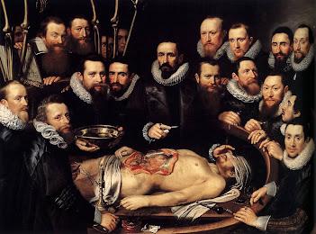 """""""Lección de anatomía del Dr. Willem van der Meer"""", pintada por Michiel Jansz van Mierevelt (1617)"""