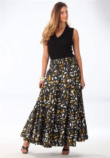Maxi Skirt Outfit Ideas for Spring or Summer 2017-2018