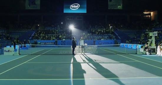 気分は近未来! テニスコートをプロジェクションマッピング! 『Open13 /// Tennis Court Mapping /// ENT x LRV x Intel』