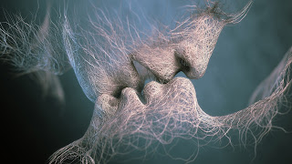 Love Sculpture Kiss Faces Wires HD Wallpaper