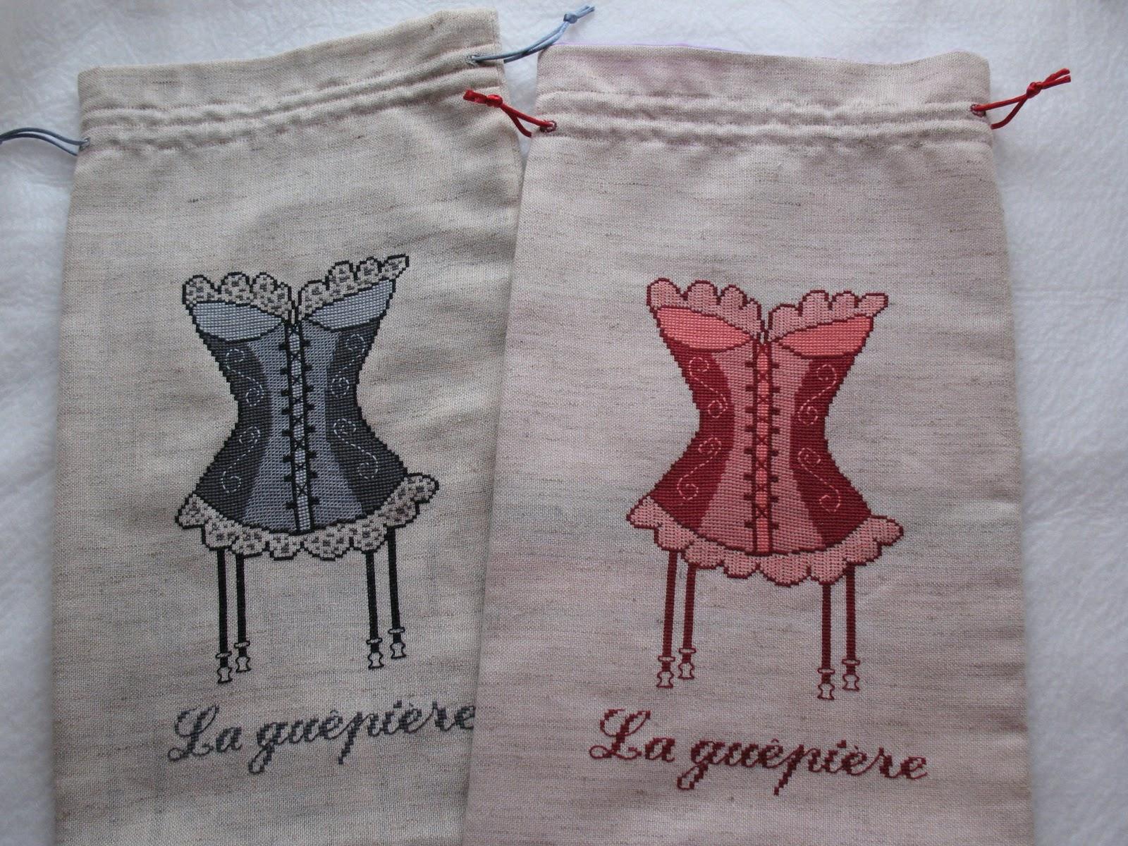 Вышивка на мешочек для белья 43