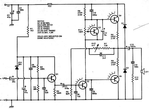 Circuito Amplificador : Circuitos amplificadores circuito amplificador