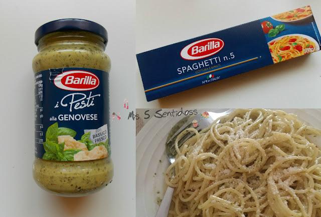 Barilla Spaguetti y pesto