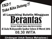 Launching Berantas Akan di siarkan di Kompas TV dan Media Kalimantan ( Free )