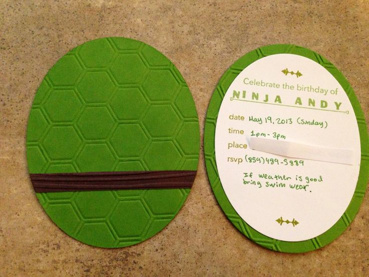 Simple creations by nubia teenage mutant ninja turtle birthday card my son had a birthday party back in may and wanted a teenage ninja turtle theme so i made him his invites with stampin up honey comb embossing folder bookmarktalkfo Gallery
