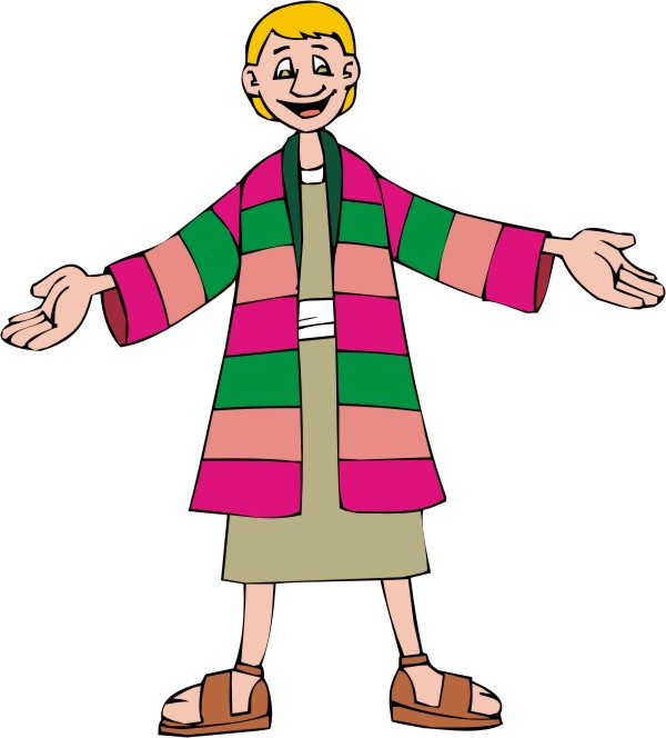 Clipart Joseph's Coat of Many Colors 1