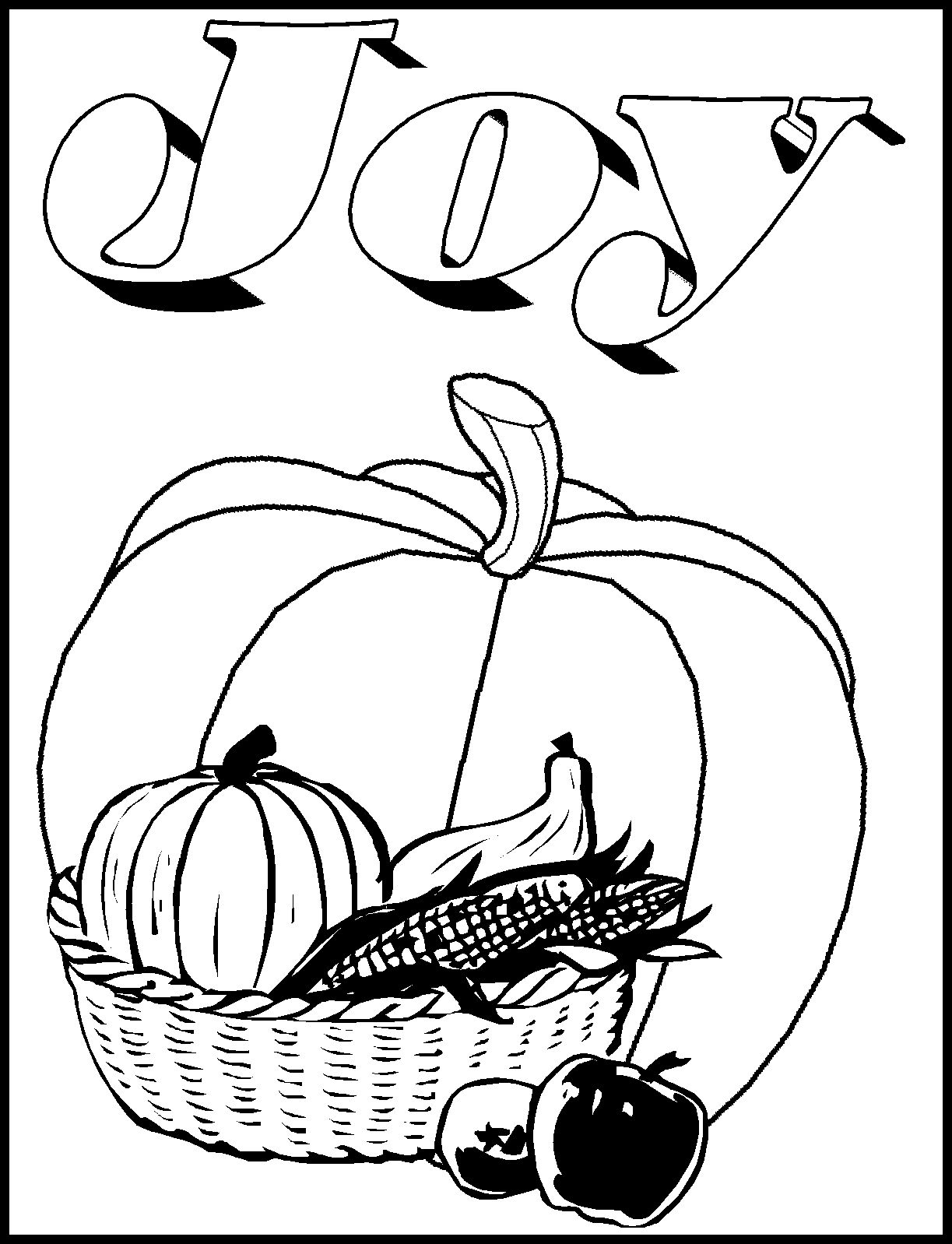 christian pumpkin coloring pages - photo#22