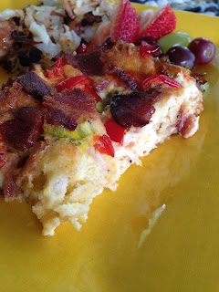 bacon and red pepper breakfast casserole