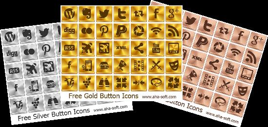 Iconos sociales Oro, Plata y Bronce