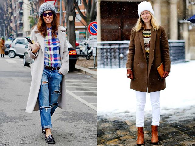 Dos outfit con gorro de lana